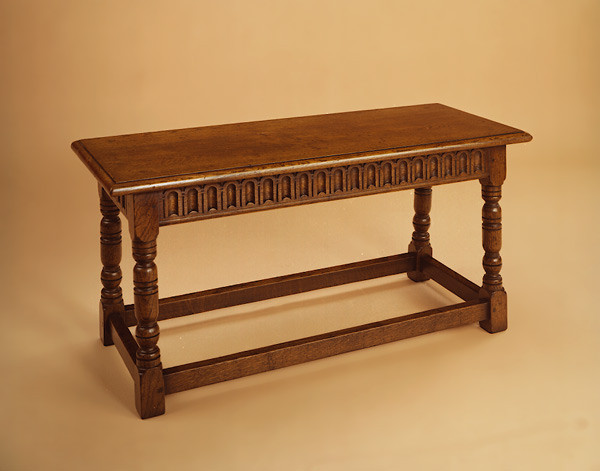Joint Stool - Arcaded Carved Rails