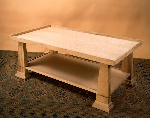 Rectangular Coffee Table - Obelisk Legs