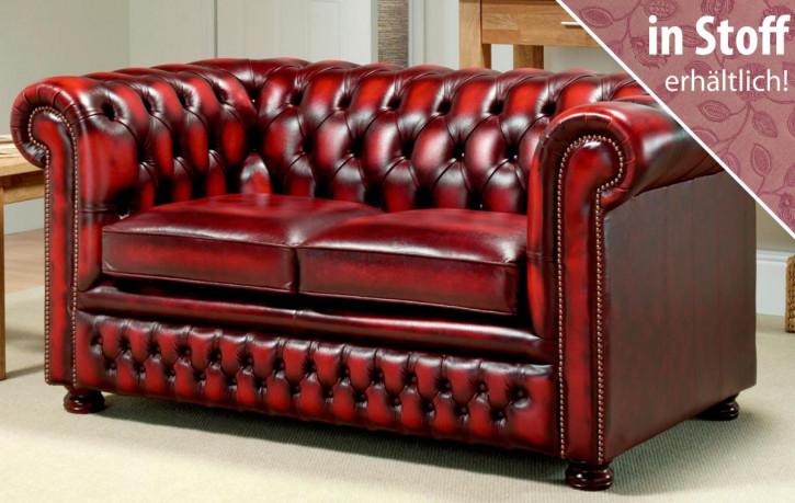 """Original englisches Chesterfield Sofa """"Austin"""" in Stoff, 2 Sitzer"""