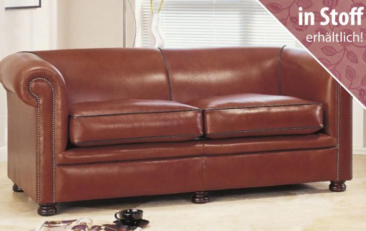 """Original englisches Chesterfield Sofa aus Stoff """"Dylan"""", 2 Sitzer"""
