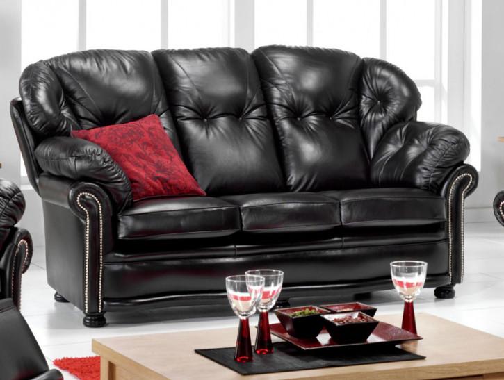 """""""Eleanor"""" Chesterfield Sofa original 2-Sitzer Echtleder"""