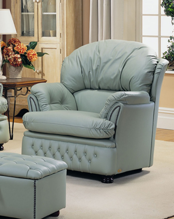 """""""Ellie Chair"""" Chesterfield Sessel in Fabric"""