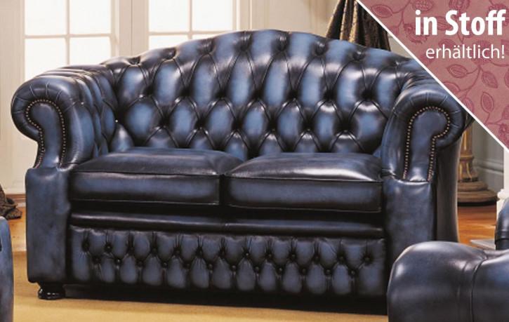 """Original englisches Chesterfield Sofa aus Stoff """"Hugo"""", 2 Sitzer"""