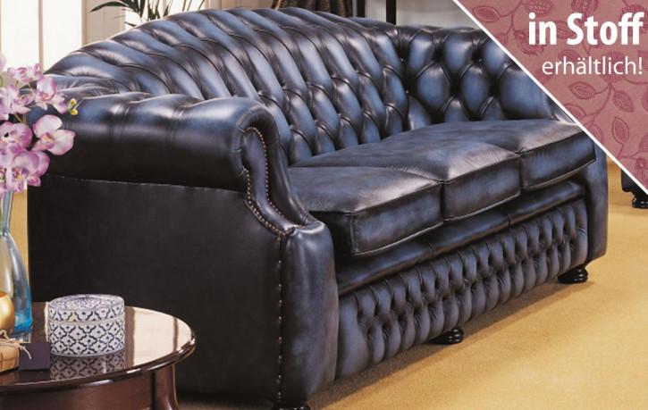 "Original englisches Chesterfield Sofa ""Hugo"" in Stoff"
