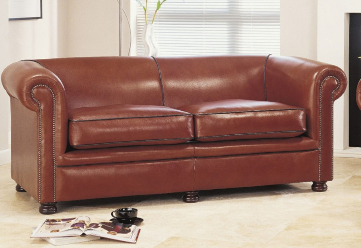 """London Classic Plain"" Chesterfield 3-Sitzer"
