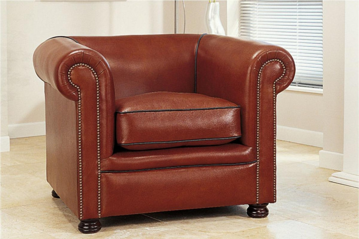 """London Classic Plain"" Chesterfield Sessel"