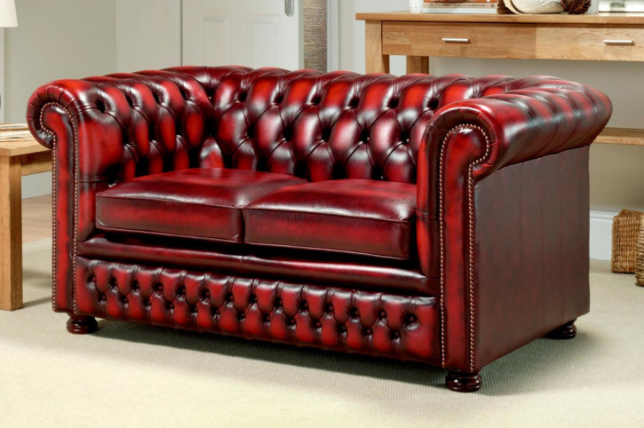 """Tudor"" original Chesterfield 2-Sitzer"