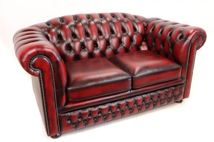 "Sofort lieferbar: Chesterfield Sofa 2 Sitzer ""SPV-Cambridge"", rot"
