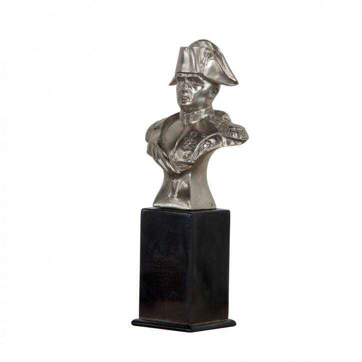 """""""Napoleon"""" vernickelte Bronze Büste mit handbemalten Details"""