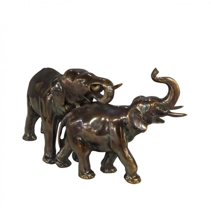 """""""Elefanten Päärchen II"""" Bronzefiguren"""