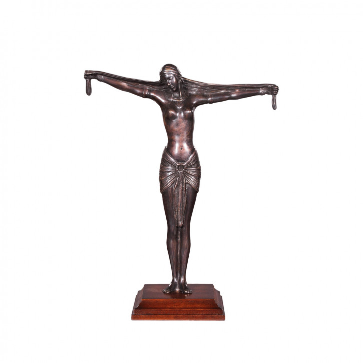 """""""Frau mit getreckten Armen"""" Bronzefigur"""
