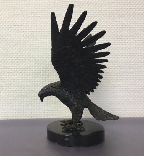 """""""Adler mit gespannten Flügeln"""" Bronzefigur"""