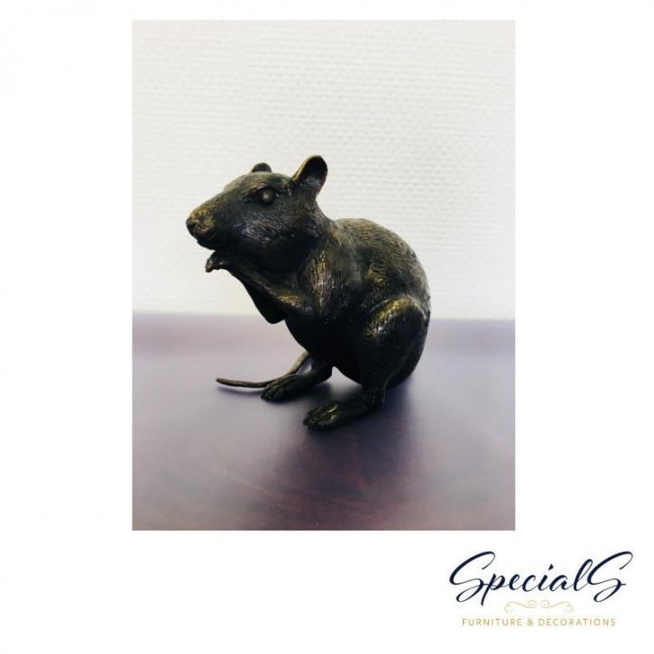 """""""Aufgestellte Maus"""" Bronzefigur"""