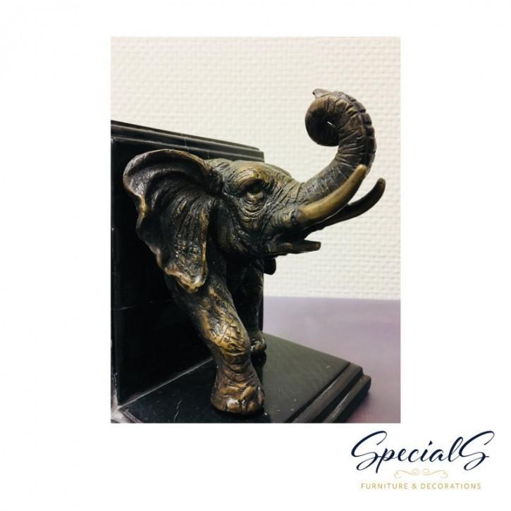 """""""Elefanten Buchstützen"""" Bronzefiguren"""