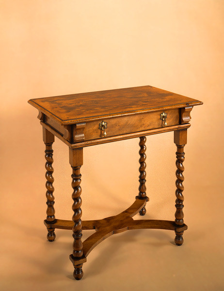 Joined Side Table Wm Mary In Yew & Cedar