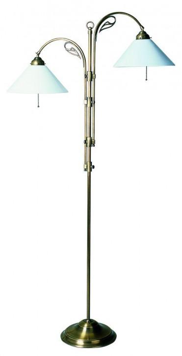 Schöne Standleuchte mit 2 Schirmen, verstellbar