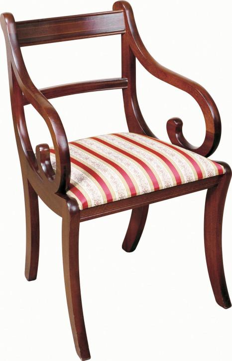 "Englischer ""Sabre Leg"" Stuhl aus massivem Mahagoni"