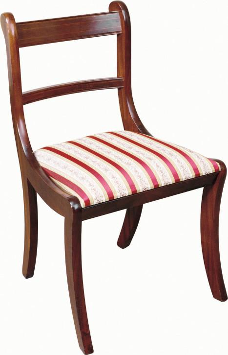 "Englischer ""Sabre Leg"" Stuhl in Mahagoni"