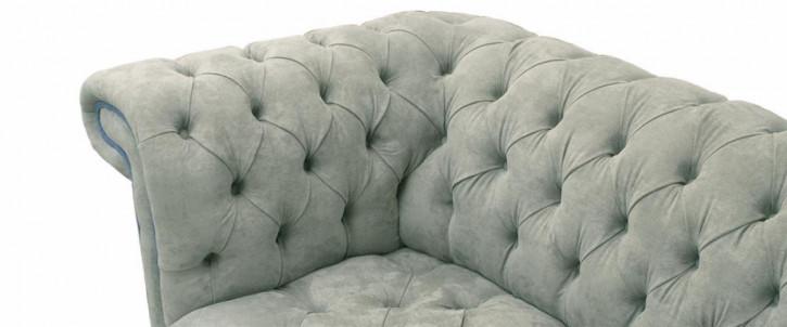 """Fraserburgh"" original Chesterfield Sofa Stoff Sofa 2-Sitzer"