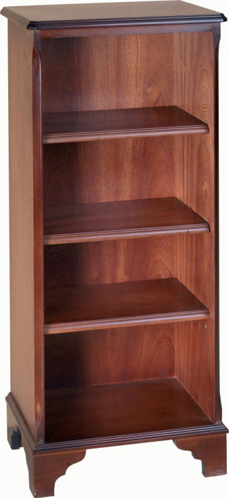 Kleiner, offener Bücherschrank mit drei Regalböden