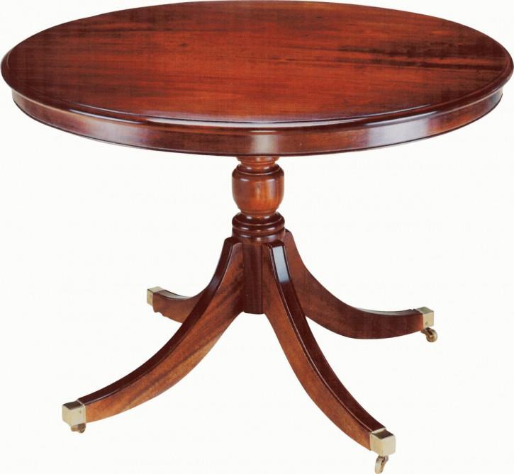 Kleiner runder Esstisch aus massivem Mahagoni