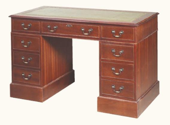 "Schreibtisch Bürotisch ""Pedestal Desk Medium Mahagoni"