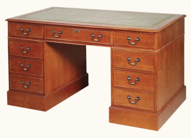 """Schreibtisch """"Pedestal Desk"""" Groß Mahagoni"""