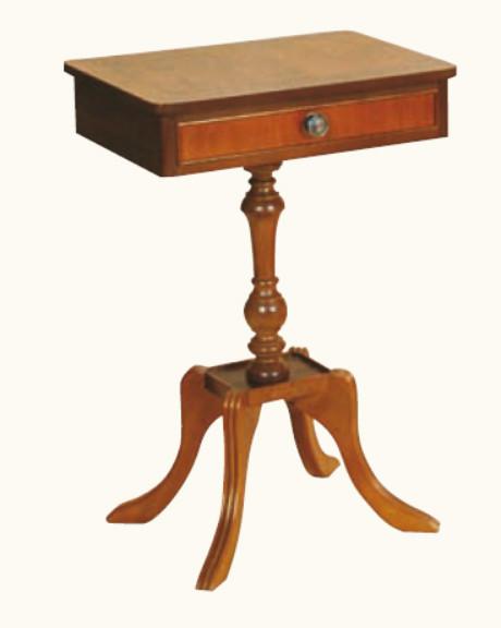 Kleiner Tisch mit Schublade Mahagoni