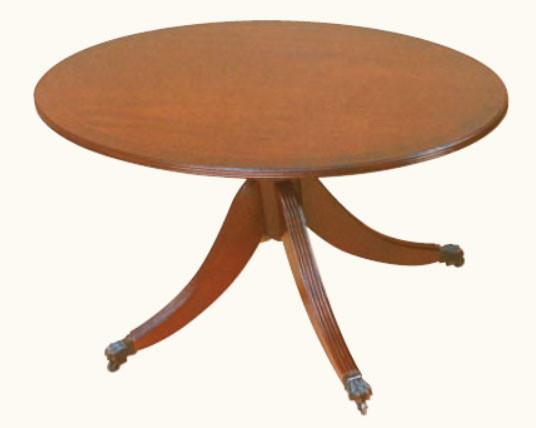 Runder kleiner Tisch Mahagoni