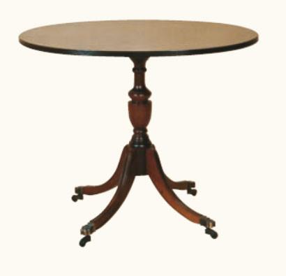 """""""Kleiner Tisch Oval"""" aus Mahagoni - ebenfalls in Eibe erhältlich"""