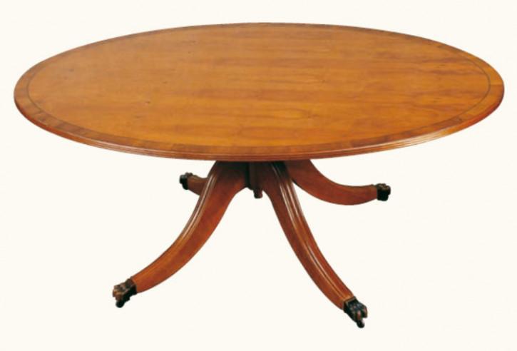 """""""Ovaler Tisch"""" in Mahagoni - ebenfalls in Eibe erhältlich"""