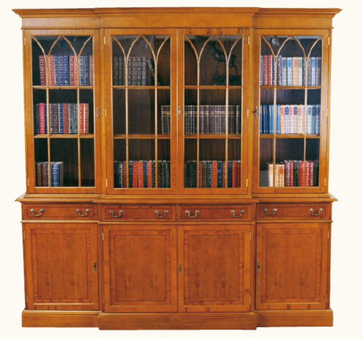 """""""Georgian Bookcase"""" Bücherschrank aus Mahagoni - auch in Eibe erhältlich"""
