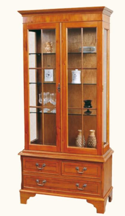 Kommode mit Vitrinenaufsatz Display Cabinet