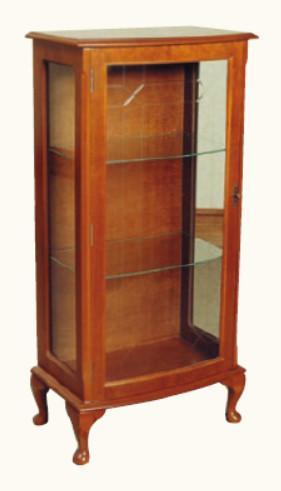 """Bow Front Display Cabinet Vitrine"" in Mahagoni - ebenfalls in Eibe erhältlich"