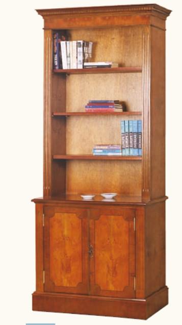 """""""Bücherregal mit 2 Türen"""" aus bestem Mahagoni - ebenfalls in Eibe erhältlich"""