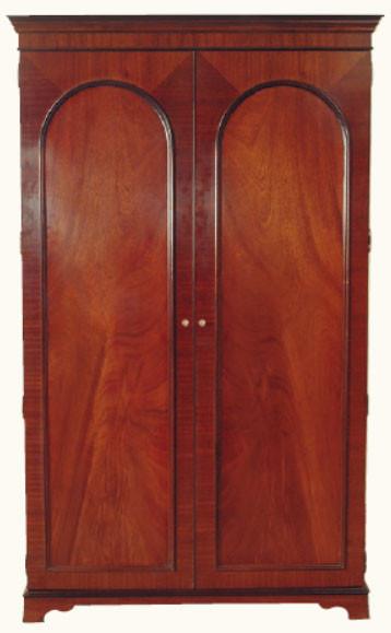 Kleiderschrank mit 2 Schranktüren in Mahagoni