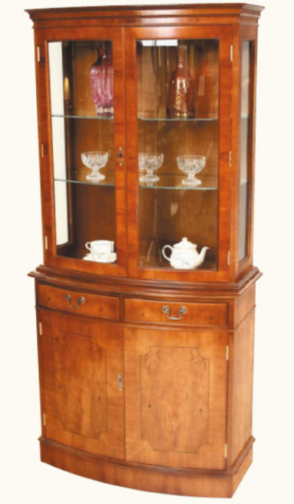 "Vitrine Buffetschrank ""Bow Fronted"""
