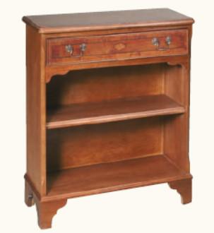 """""""Breites Bücherregal mit einer Schublade"""" aus bestem Mahagoni - auch in Eibe erhältlich"""