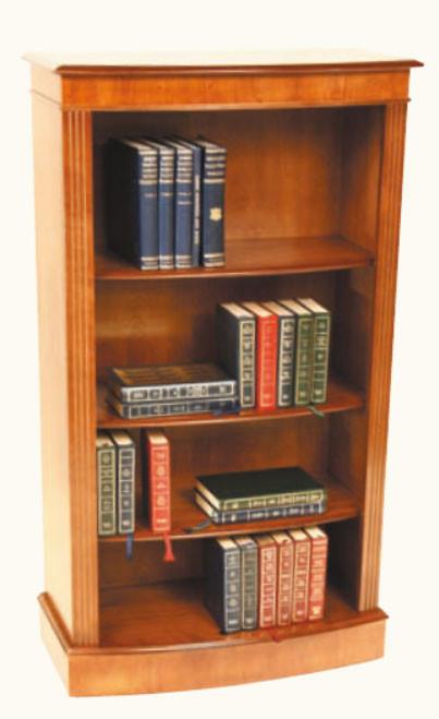 Bücherregal Bücherschrank Medium Mahagoni, gebogen
