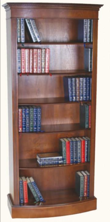 Großes Bücherregal Bücherschrank Mahagoni, gebogen