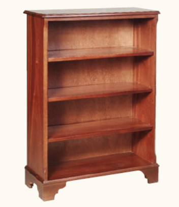 Bücherregal mit 3 Regalböden Mahagoni