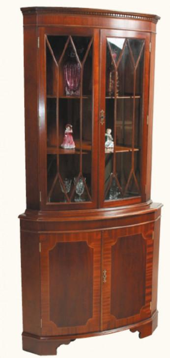"""Display Cabinet Eckvitrine"" in Mahagoni - ebenfalls in Eibe erhältlich"
