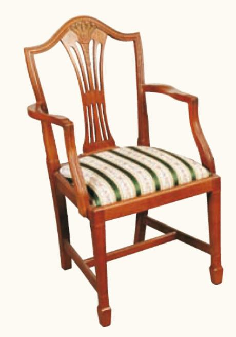 """""""Hepplewhite Weather"""" Stuhl mit Lehne in Mahagoni ebenfalls in Eibe erhältlich"""