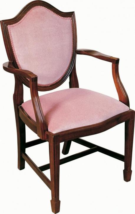 """Hepplewhite Upholstered Shieldback Carver"" aus massivem Eibenholz"