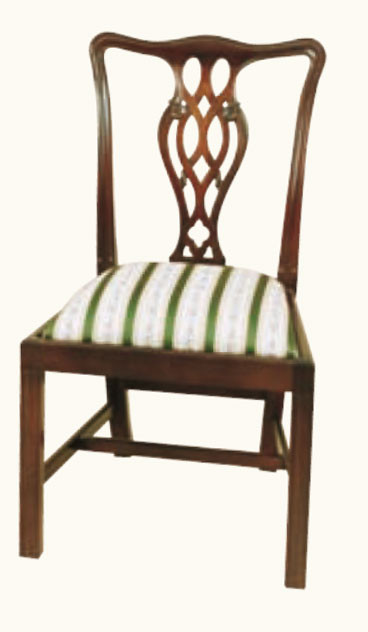 """Ribbon Back"" Stuhl in Mahagoni - ebenfalls in Eibe erhältlich"
