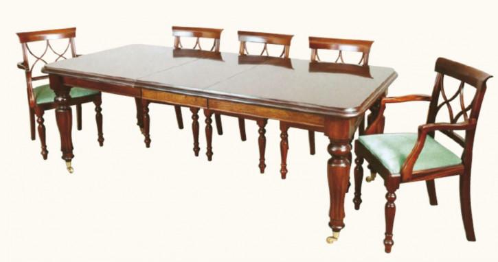 """""""Viktorianischer Mahagoni Esstisch mit Einlegeboden"""" 112x160-213cm - ebenfalls in Eibe verfügbar"""