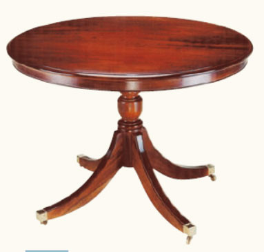 Kleiner runder Esstisch Mahagoni mit Rand Ø 107 cm