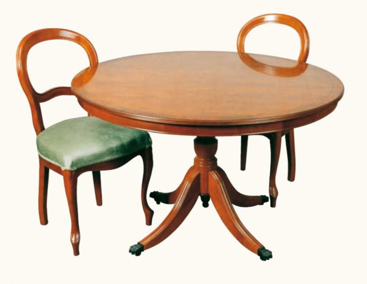 """Runder Tisch """"Glasgow"""" aus Mahagoni 122cm Ø"""