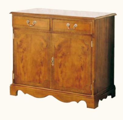 Sideboard Mahagoni zwei Schranktüren und zwei Schubalden