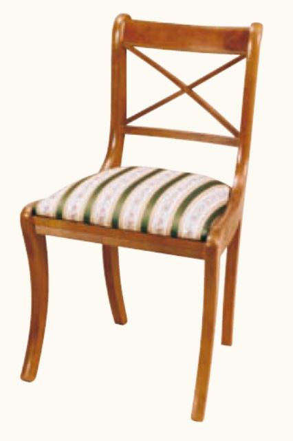 """Cross Stick Carver"" Regency Stuhl ohne Armlehne in Mahagoni - ebenfalls in Eibe erhältlich"